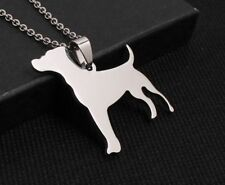 Two pieces of Stainless Steel Jack Russell Terrier Jrt Pet Dog Tag Charm Pendant