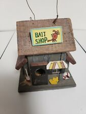 Bait Shop, Nautical Folk Art, Decorative Bird House, All Wood, Display,