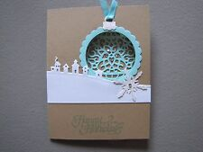 Winter Village Happy Holidays Christmas Ornament Card Kit w/Some Stampin Up