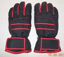 Winter Snow Ski Gloves Black Red Size Large GUC