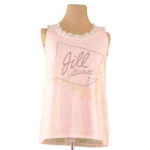 Jill Stuart Tank top Pink Grey Woman Authentic Used R1212