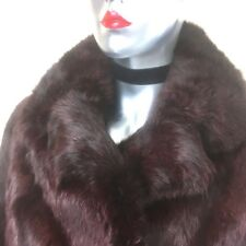 Glamorous Beautiful Vintage Finest French Rabbit Coat Rich Brown  Size 10
