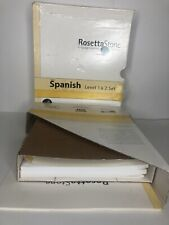 Rosetta Stone Spanish Espanol Level 1 & 2 Set