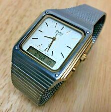 Vintage Casio AQ-500 Module 305 Men Analog Digital Chrono Watch Hour~New Battery