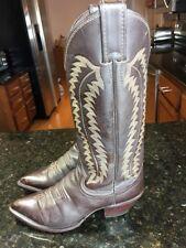 Justin Women Brown Western Cowboy Boots Sz 6 B