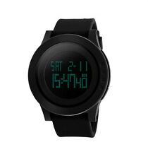 SKMEI Unisex Black Large Digital LED Display Alarm Date Timer Wrist Watch