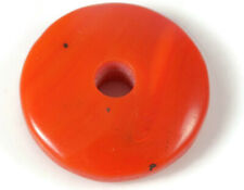 Red Lab Coral Donut Big Hole Coin Pendant Beads 12mm-25mm 2 Piec #DB-225