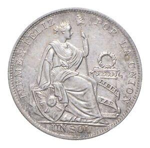 Better Date - 1934 Peru 1 Sol - SILVER *373