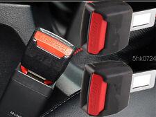 "Universal 2Pcs Car Seat Seatbelt Safety Belt Clip Extender Extension 7/8"" Buckle"