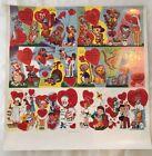 "Vintage  NOS 1950's Children's Valentines Day Cards Uncut Sheet 18"" x 18"""