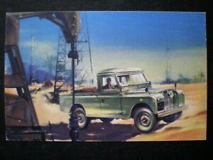 Land Rover 4-Wheel Drive Long Advertising Postcard