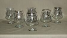 """Vintage Art Line Japan Set of 6 Brandy Snifters with """"Silver Wedding Anniversary"""