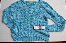 Nwt Girls Roxy Long Sleeve Knit teal Mottled Knit Sweater Size M 10 $54