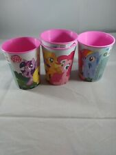 Lot of 4 My Little Pony 16 oz. Plastic Party Cups, New