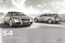 Prospekt / Brochure Audi S4 Limousine und Avant 04/2010