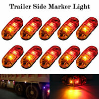 10X Red Amber LED Side Marker Clearance Light For Caravan Truck Trailer 12V-24V