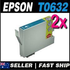 2x Cyan T0632 Compatible Ink for PRINTER C67 C87 C87+ CX3700 CX4100 CX4700 CX570