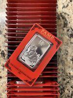 2019 PAMP Suisse Lunar Pig 1oz .999 Silver Bar Sealed Assay Card