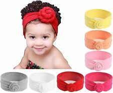 7 Pack Baby Girl Infant Toddler Cotton Turban Headband Knot Hairband Child Kid