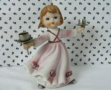 Vintage 1979 Dancing Darling Verona Vergasi Porcelain Bisque Girl Candle Holder