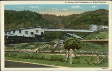 Modern Coal Operation in WV Publ in Beckley Linen Postcard