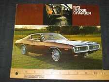 1972 Dodge Charger Folder Sales Brochure