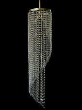 moderne asymétrique Lustre en acier inoxydable avec véritable cristal 3 brûleurs