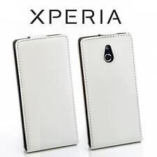 Teléfono móvil plegable bolsa flip style case Sony Xperia P/lt22i funda protectora, estuche, protección Weiss