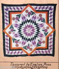 feathered star quilt variation applique posie pattern