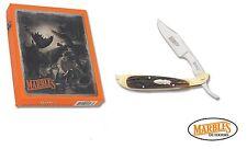 Marble's Sportsman Razor pocket knife Brown Stag Bone Handle Free Shipping USA