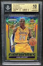 2014-15 Panini Prizm Fireworks Gold /10 Kobe Bryant Bgs 10 Psa Pristine Lakers