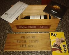COFFRET MILLESIME 00/01 LIVE PASCAL OBISPO VIN + CD + BD INCLUS JOHNNY HALLYDAY