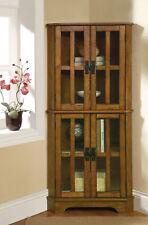 Coaster Curio Cabinet In Warm Brown Finish 950185