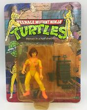 Teenage Mutant Ninja Turtles April O'Neil 1988 Playmates Unpunched TMNT MOC NEW