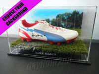 ✺Signed✺ LUKE DARCY Football Boot PROOF COA Western Bulldogs 2020 Jumper AFL