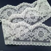 Scalloped Flat Lace Wedding Sewing Crafts 63mm wide White or Ivory//Cream
