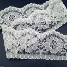 """5 METRES Quality flat White Lace Trimming  55 mm 2.1"""" Trim Craft Scalloped Edge"""
