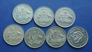 Australia Shillings 1910 to 1946 - Choose your date or grade