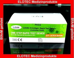 100 Corona Antigen Schnelltest Covid 19 Mund/Rachen Nase BfArM Prof.-10 Min Res.