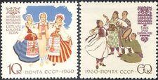 Rusia 1960 trajes tradicionales/Ropa/diseño/animación 2 V Set (n44425)