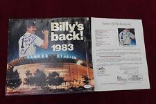 "Billy Martin Signed 1983 Yankees Calendar ""Billys Back"" Auto Full JSA Yankees"
