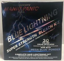 RARE SOLD OUT ** Manic Panic Mega Blue Super Strength Lightening Bleach Kit 30V