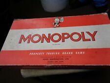 old monoploy board game might not be complete.                                 s