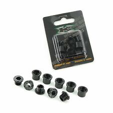 5pair KCNC Chainring Crank Bolts Set for Shimano Road Bike M8*8.5mm - Black