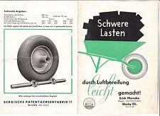 Reklame Prospekt Luft Reifen Bereifung Erich Maroske Wagen Fahrzeugbau Niesky !