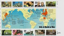 US HISTORY SCOTT #2559 WWII 1941: A WORLD AT WAR 10 MINT NH VF 29c STAMP SHEET