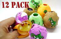 12 pcs Dinosaur  Squishy egg sensory stress reliever ball toy.