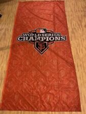 "San Francisco Giants 2012 World Series Champions Team Used Banner 116"" x 56"""