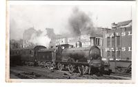 LMS Railway Engine At Paisley Real Photgraph c1947 Postcard