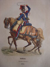 Gravure Artillerie CANONNIER CONDUCTEUR en 1835